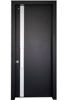 דלת כניסה דגם ריי שחור לבן