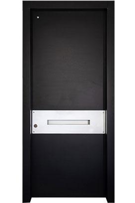 דלת כניסה דגם סיטארה שחור לבן