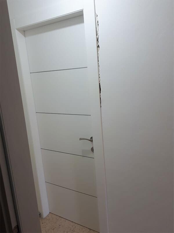 התקנת דלת פנים דגם כנרת